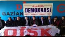 Antep'te 'OHAL Kaldırılsın' talebiyle ortak basın açıklaması