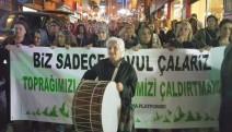 Artvinli kadınlardan davullu düdüklü protesto