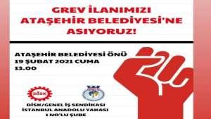 Ataşahir Belediye işçileri 19 Şubat'ta grev kararını asacak I Kadıköy işçileri direnişte