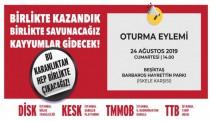 Beşiktaş Barbaros Hayrettinpaşa Parkı'nda kayyıma karşı  oturma eylemi yapılacak