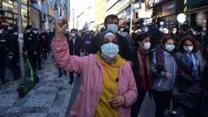 Birleşik Mücadele Güçleri eyleminde gözaltına alınan 61 kişi adliyeye sevk edildi