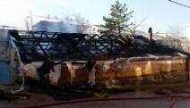 Bolu'da yaşlı çiftin evi yandı, canlarını komşular kurtardı