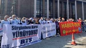 BTS ve Haber-Sen'in 'sürgünlere hayır' yürüyüşü Ankara'da sona erdi