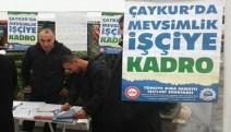 Çaykur'da 'Mevsimlik İşçilere Kadro' için imza kampanyası başlatıldı