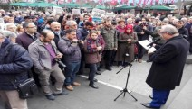 Cumhuriyet'e operasyon Trabzon'da protesto edildi