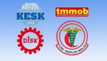 DİSK, KESK, TMMOB ve TTB'den acil önlem talepli imza kampanyası
