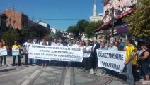 """Edirne'de KESK'in çağrısı ile """"Öğretmenime dokunma"""" eylemi yapıldı"""