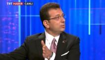 Ekrem İmamoğlu TRT Haber'de soruları yanıtladı