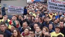 Ergene'de binlerce kişi termik santrali protesto etti