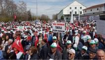 Fabrikaların satışına halk tepki gösterdi