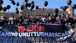 """İl il 10 Ekim anmaları: """"Unutmadık, unutturmayacağız, katiller hesap verecek'"""