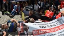 İlginç eylem: CHP Konak halkın önüne yattı!