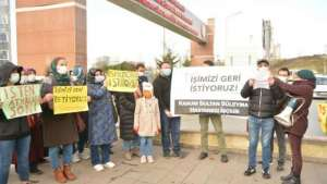 İşten çıkarılan KSS hastanesi işçilerinden eylem