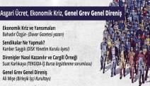 Kaldıraç dergisinden 'Asgari Ücret, Ekonomik Kriz, Genel Grev Genel Direniş' etkinliği