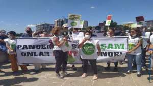 Kanal İstanbul projesine karşı yürüyorlar