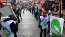 Kanal İstanbul'a tepkiler sürüyor: Sarıgazi'de insan zinciri