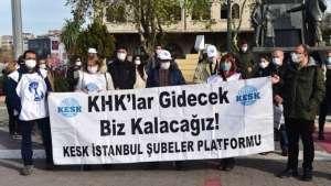 KESK, OHAL Komisyonu'nun süresinin uzatılmasını protesto etti