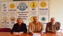 KESK'in mitinginin yasaklanması Bursa'da protesto edildi