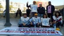 KHK ile ihraç edilen kamu emekçileri 33 gündür Aydın kent meydanında