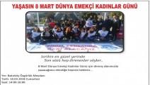 KHK ile işinden atılan kamu emekçilerinden 8 Mart etkinliği...