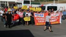 'Kıdem tazminatı ve diğer haklarımızı istiyoruz': Makro Market'ten çıkarılan işçilerinden eylem