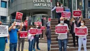 Manisa'da sağlık emekçilerinden eylem