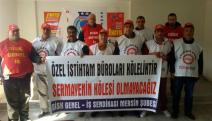 Mersin'de Özel İstihdam Büroları yasa tasarısına protesto
