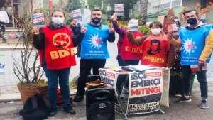 Sarıgazi Çarşamba pazarında 24 Ekim mitingine çağrı yapıldı