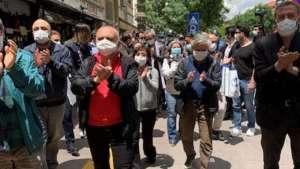 SES üyelerinin sürgün edilmesi protesto edildi