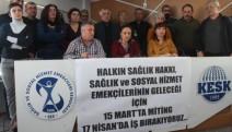 SES'ten şiddete karşı Beyaz Miting ve iş bırakma eylemi