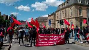 Stuttgart'ta ırkçı AfD'ye karşı antifaşist eylem