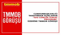 TMMOB hükümetin 100 Günlük İcraat Programı'yla ilgili görüşünü açıkladı