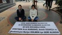 Trabzon Sanat Sokağın'da öğretmen arkadaşlarının işe iadesini istedi