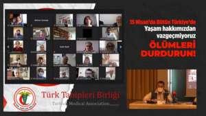 TTB'den 15 Nisan çağrısı: Bu kez hep birlikte uyaralım