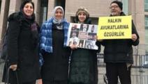 Tutuklu avukatlar için adalet nöbeti eylemi yapan Avukat Didem Ünsal ve beraberindeki iki kişi gözaltına alındı