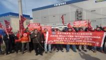 Tüvtürk Reysaş işçileri, direnişi REYSAŞ Lojistik önüne taşıdılar