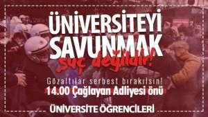 Üniversite öğrencilerden adliye önüne çağrı
