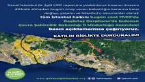 Ya Kanal Ya İstanbul Koordinasyonu: ÇED onayı bilimin ve halkın iradesinin çiğnenmesidir