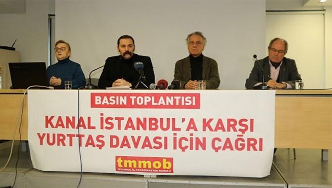 """TMMOB'den çağrı: """"Kanal İstanbul'u tarihin en büyük davasına dönüştürelim"""""""