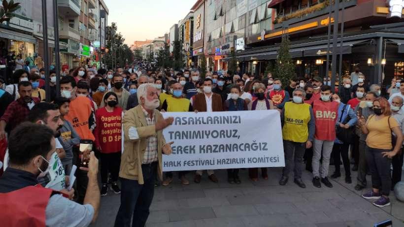 Yasaklara rağmen Sarıgazi Halk Festivali gerçekleştirildi