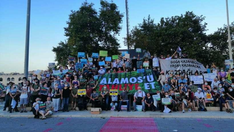 Yaşam savunucuları Kazdağları için İstanbulda eylem yaptı