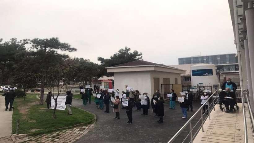 Yedikule Hastanesi emekçilerinin nöbet eylemleri sürüyor