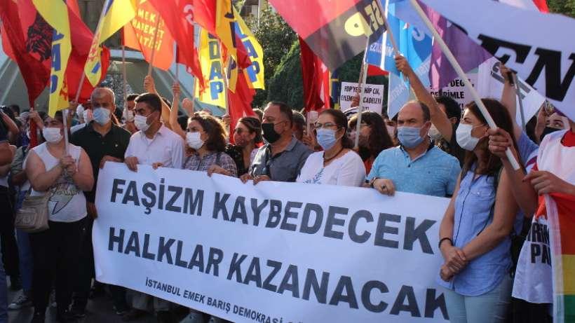'Hukuksuzluklara yanıtımız birlikte mücadeleyi yükseltmek olacak'