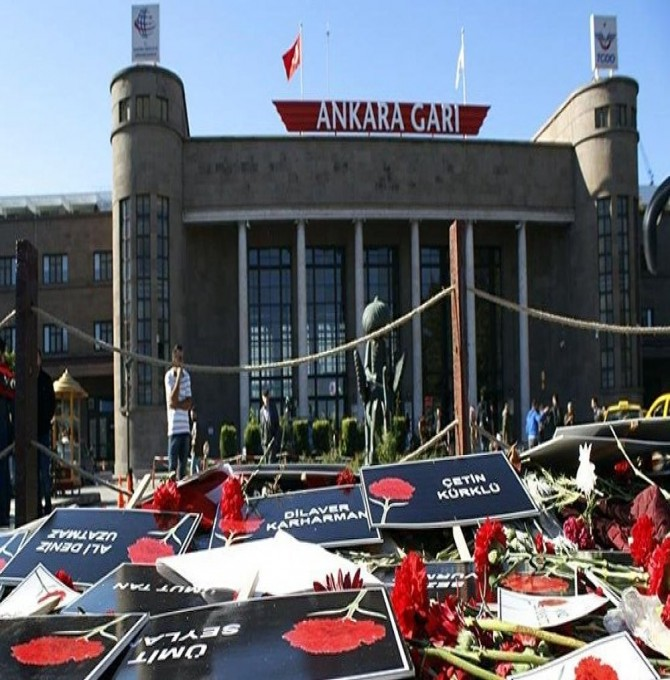 10 Ekim Gar katliamı: 5 sanığa kırmızı bülten