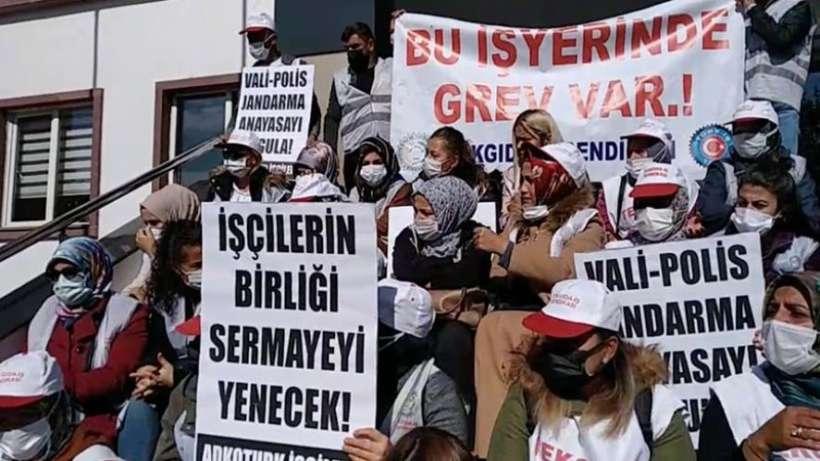 AdkoTurk işçilerine polis saldırısı ve çok sayıda gözaltı