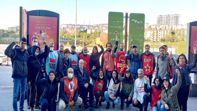 CarrefourSA'da direnişe destek ve 24 Ekim Kartal mitingine davet