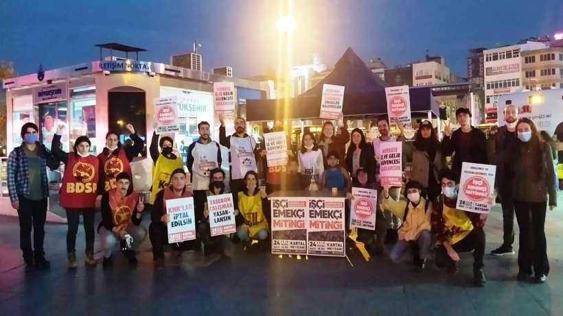 Kadıköy, Kartal ve Sefaköy 'de 24 Ekim mitingine çağrılar yapıldı