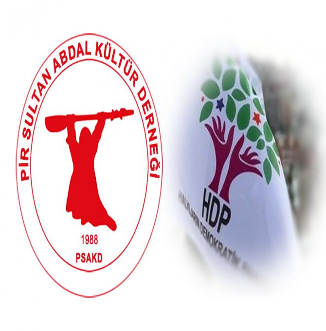PSAKD: HDP ile dayanışma içindeyiz, halk iradesi gasp edilemez