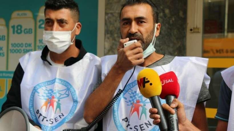 PTT çalışanlarına yönelik tehdit protesto edildi