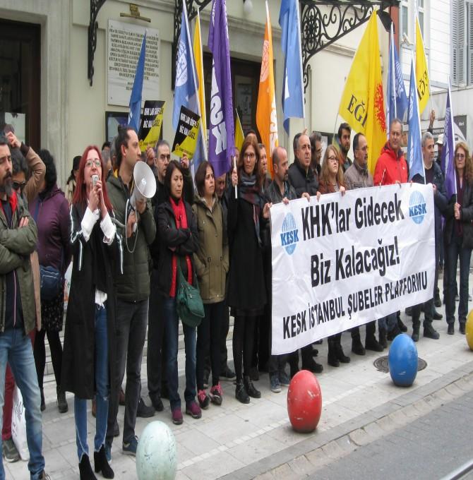 """""""108.direniş haftasında işimizi geri istiyoruz demek için Kadıköy'deyiz"""""""